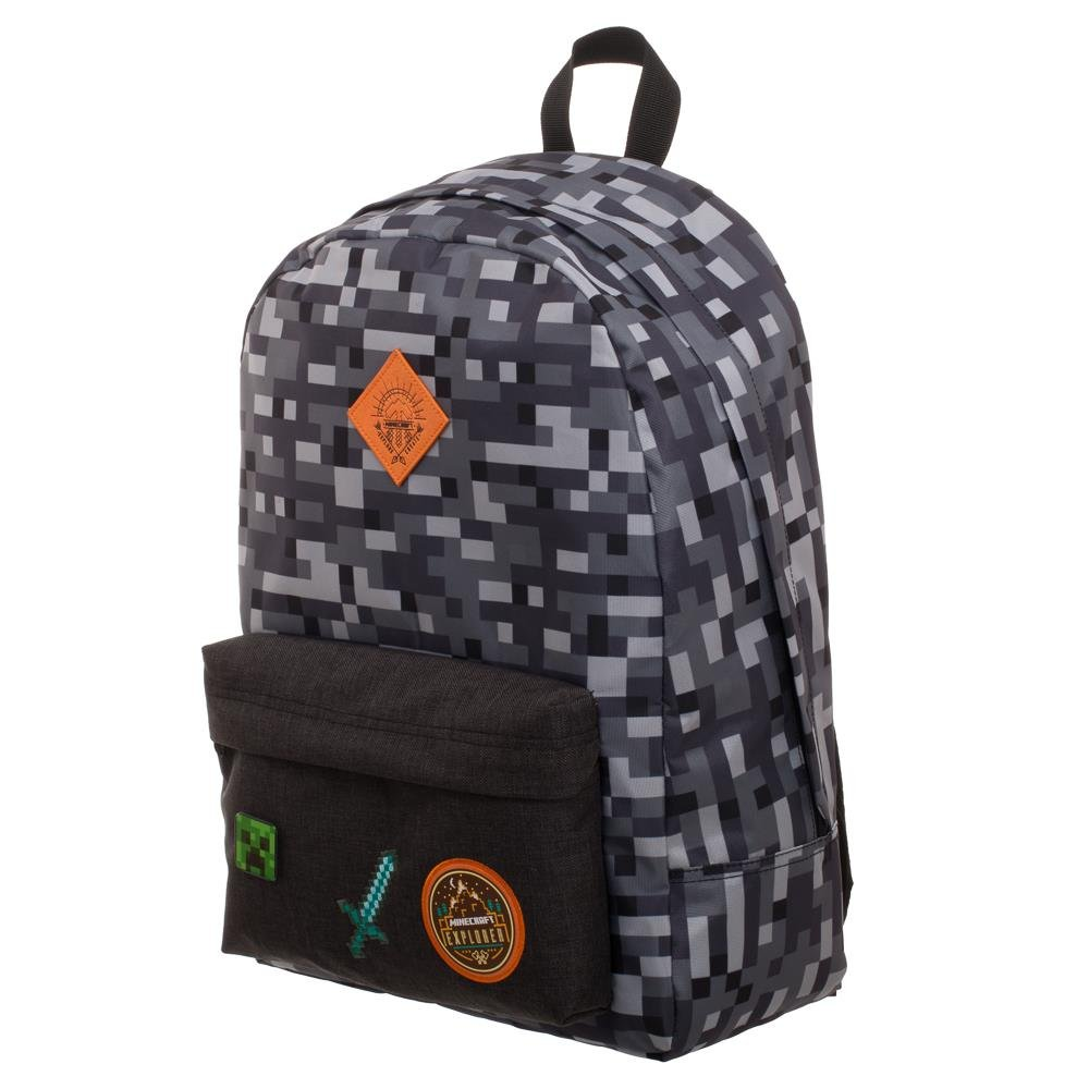 Minecraft Camo Gray Backpack