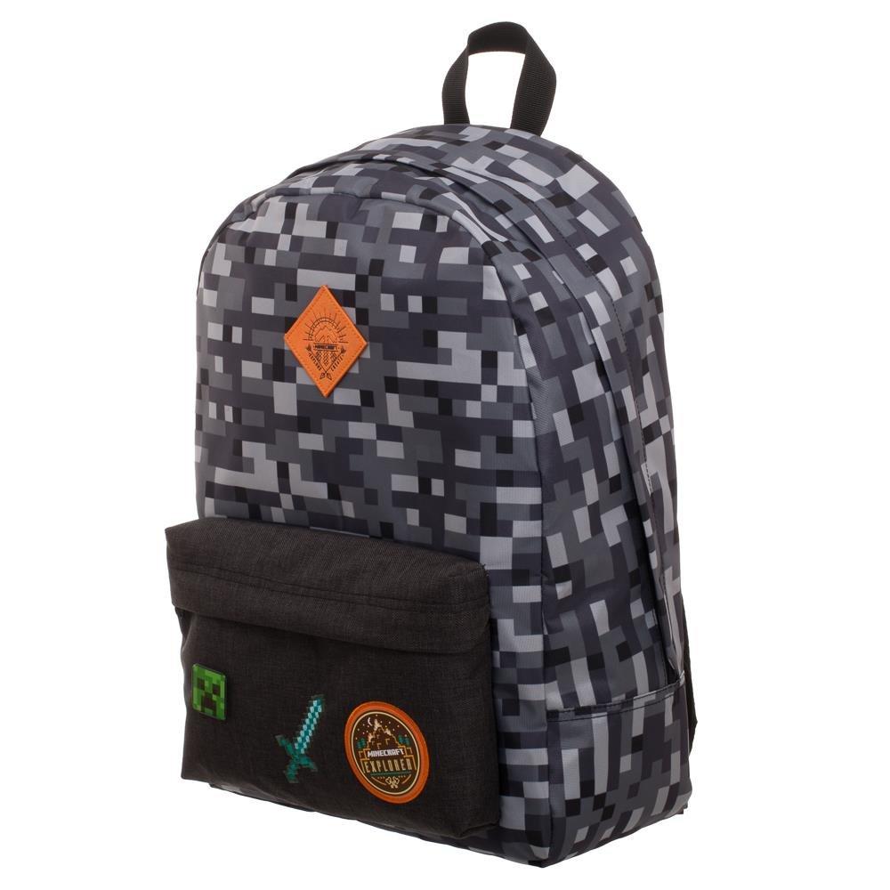 Minecraft Camo Gray Backpack