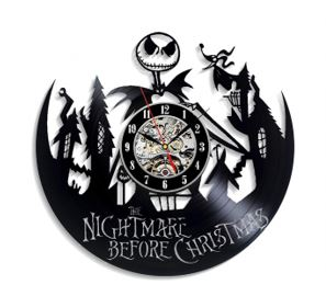 Nightmare Before Christmas Vinyl Wall Clock