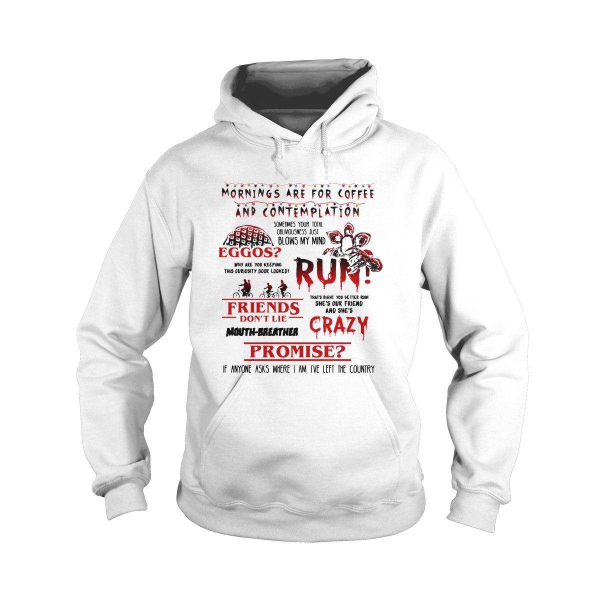 Stranger Things Words Hoodie