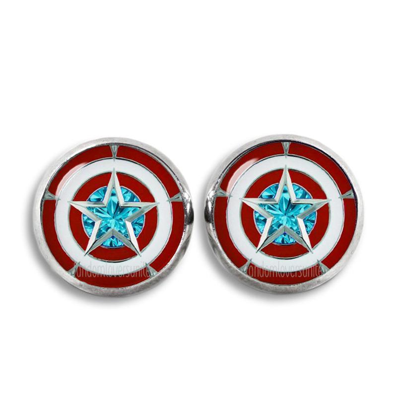 Marvel Captain America Shield Stud Earrings