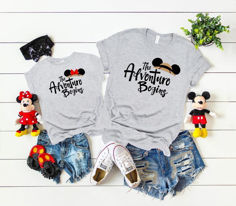 The Adventure Begins Disney Shirt