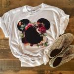 Disney shirts with floral design