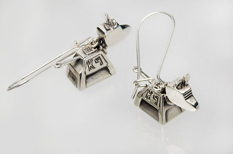 Doctor Who K-9 Dangling Earrings