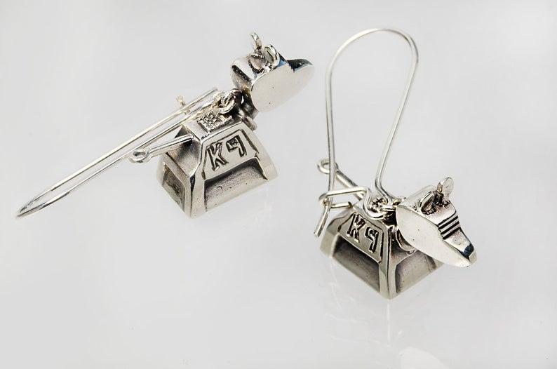 Doctor Who K-9 Dangling Earrings
