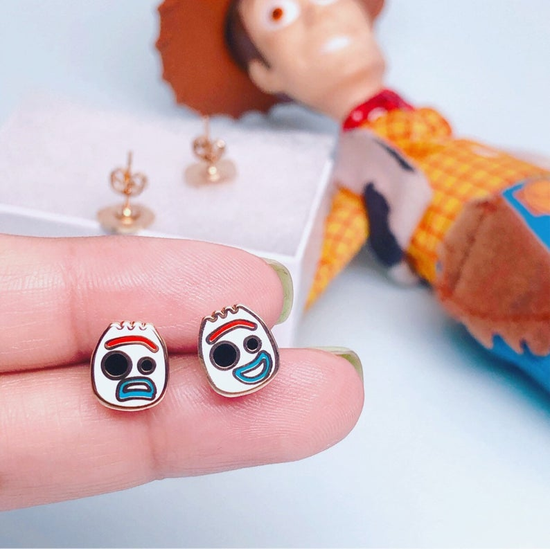 Geeky Forky Toy Story Movie Stud Earrings