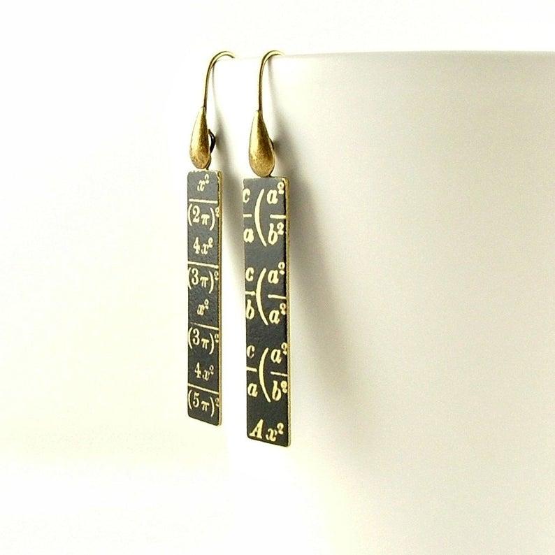 Cool Math Equation Etsy Earrings