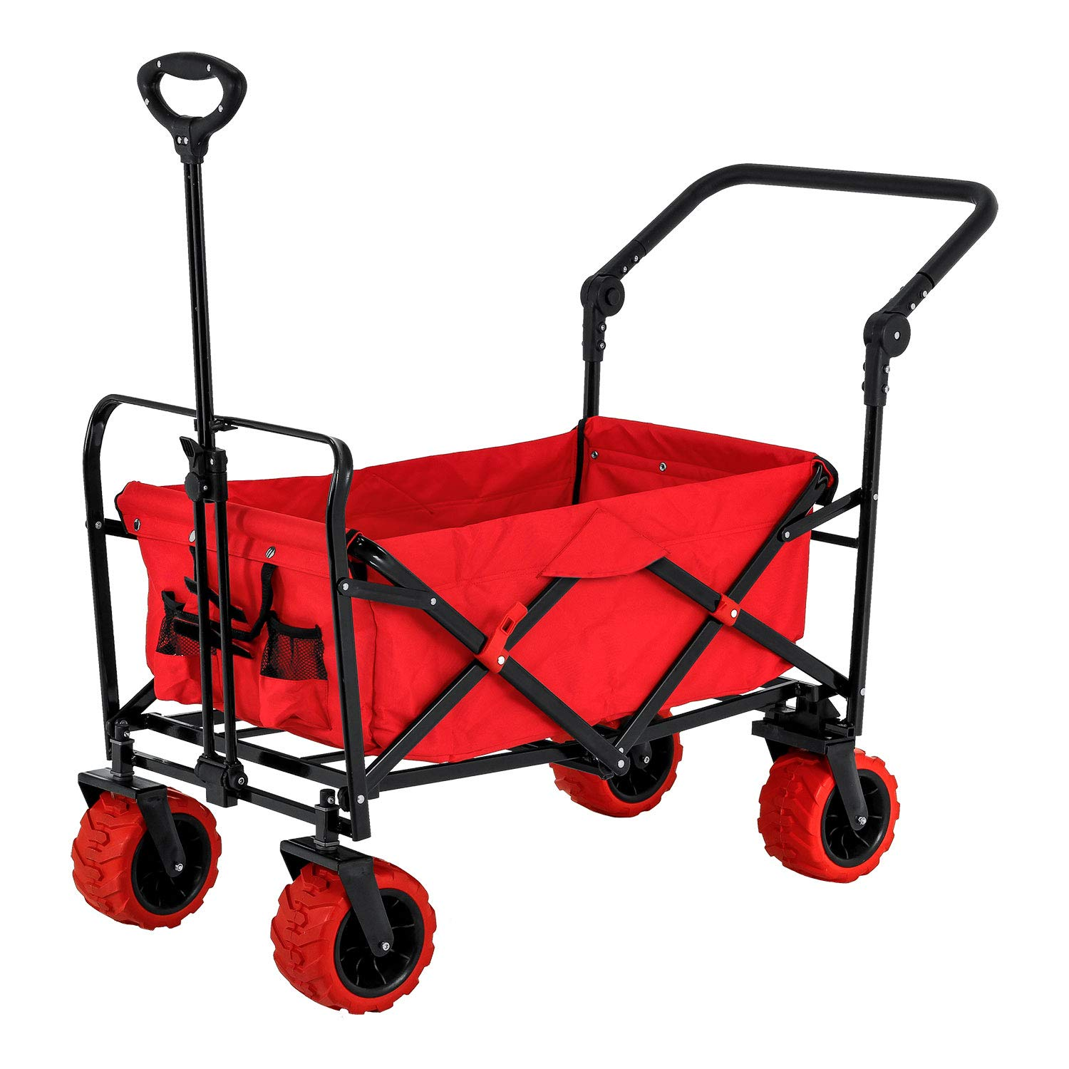 Red Folding Collapsible Utility Wagon