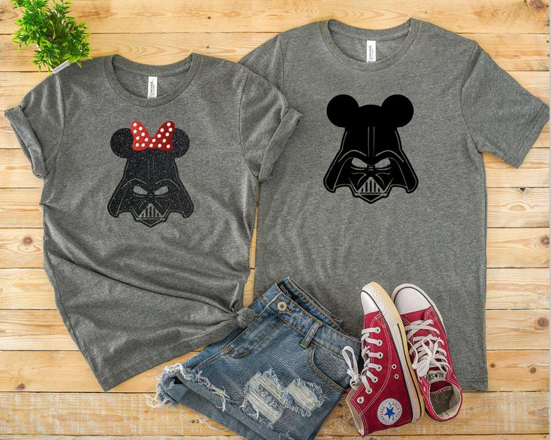 Very Cool Star Wars Disney Couple T-Shirts