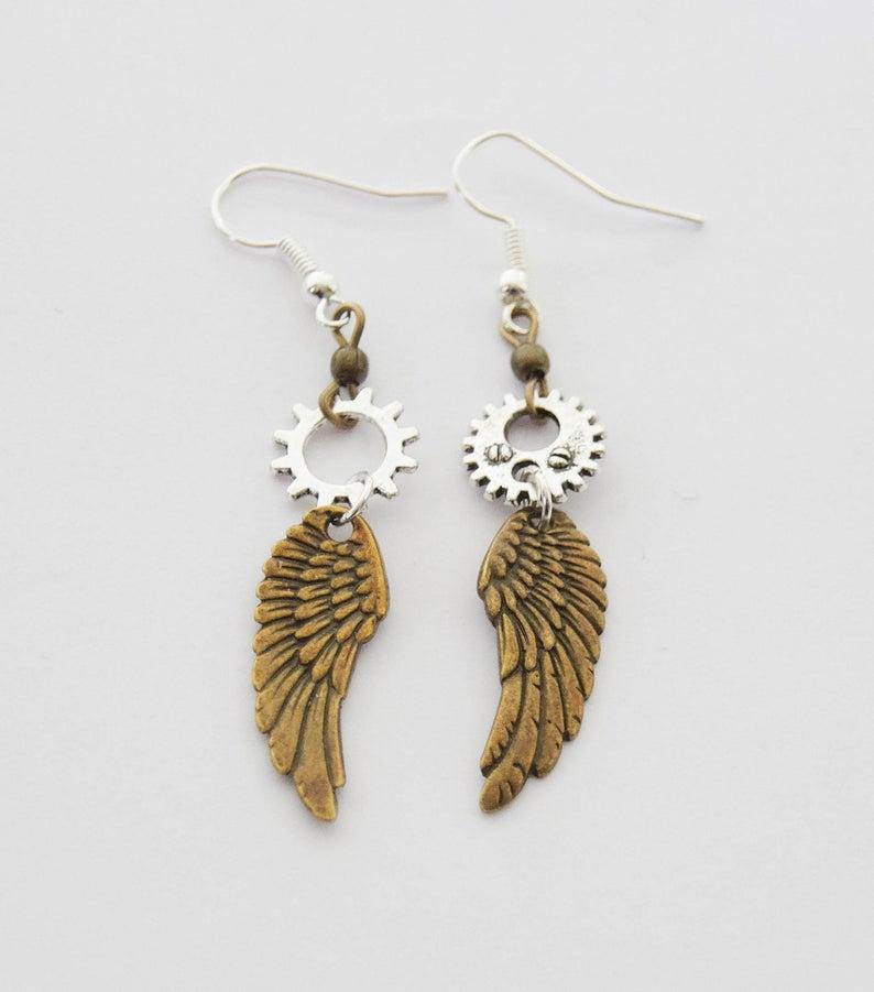 cool steampunk earrings on etsy