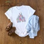 Watercolor Disney Castle Short Sleeve Tee