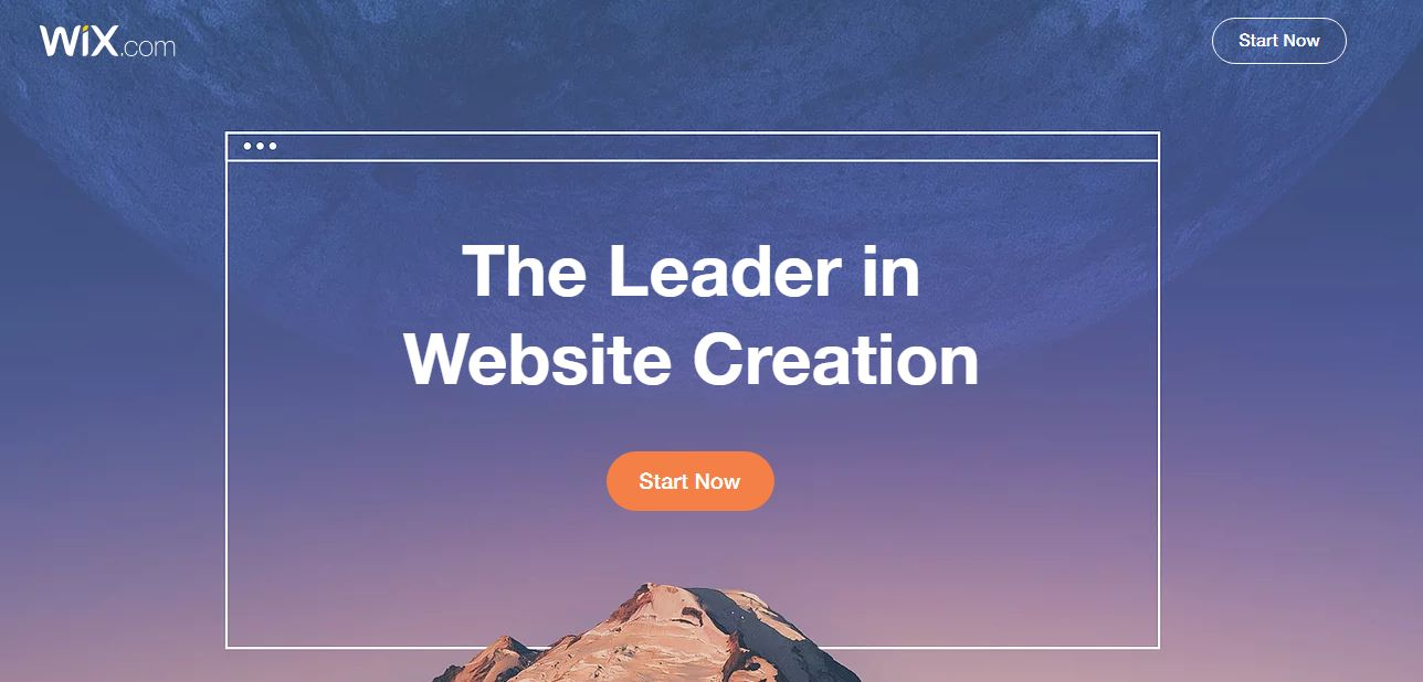 Sign up for Wix website now