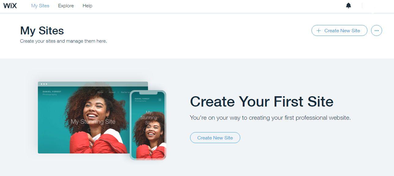 create website on wix