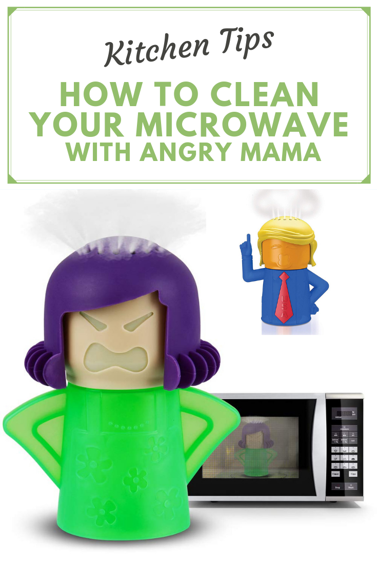 angry mama cool gadget to clean microwave