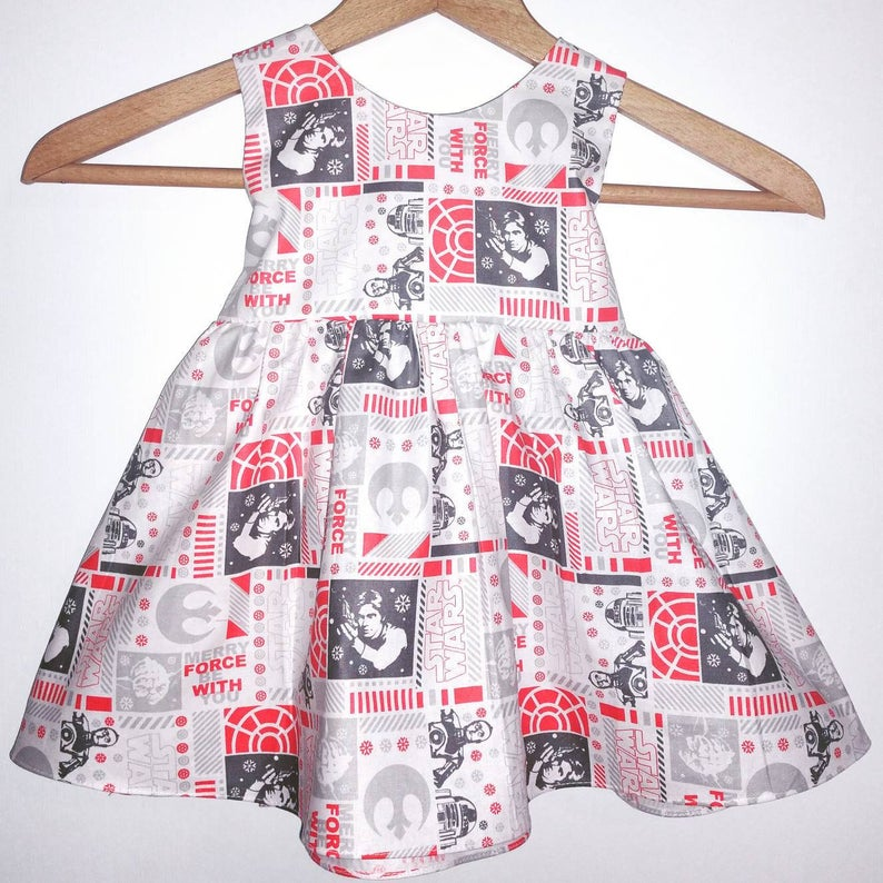 Space Ship Battle Star Wars dress