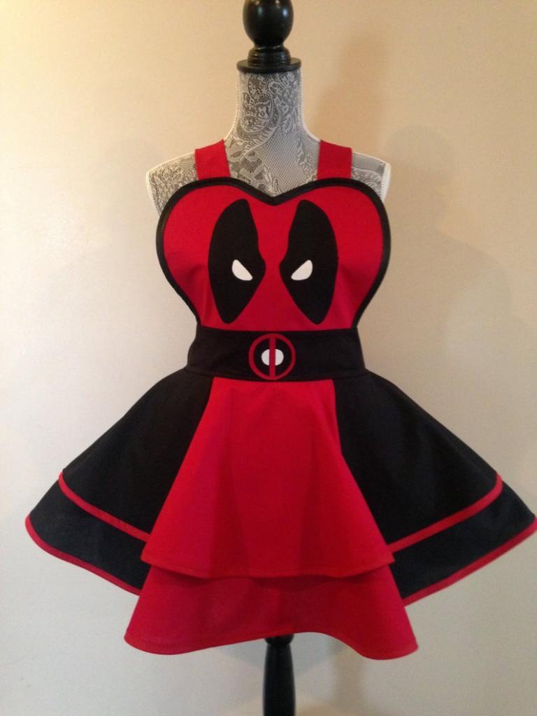 Deadpool halloween cosplay apron