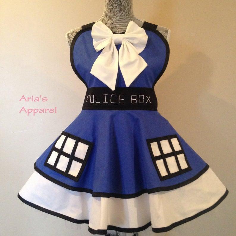 Doctor Who Tardis Halloween costume apron