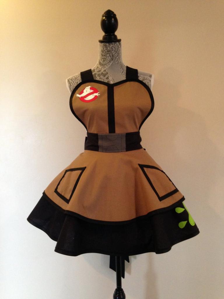 Ghostbusters inspired halloween costume apron