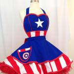 Captain America pinup halloween costume apron