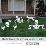 Halloween Skeleton Yard Art Set