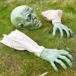 Halloween Zombie Face and Arms Lawn Stakes