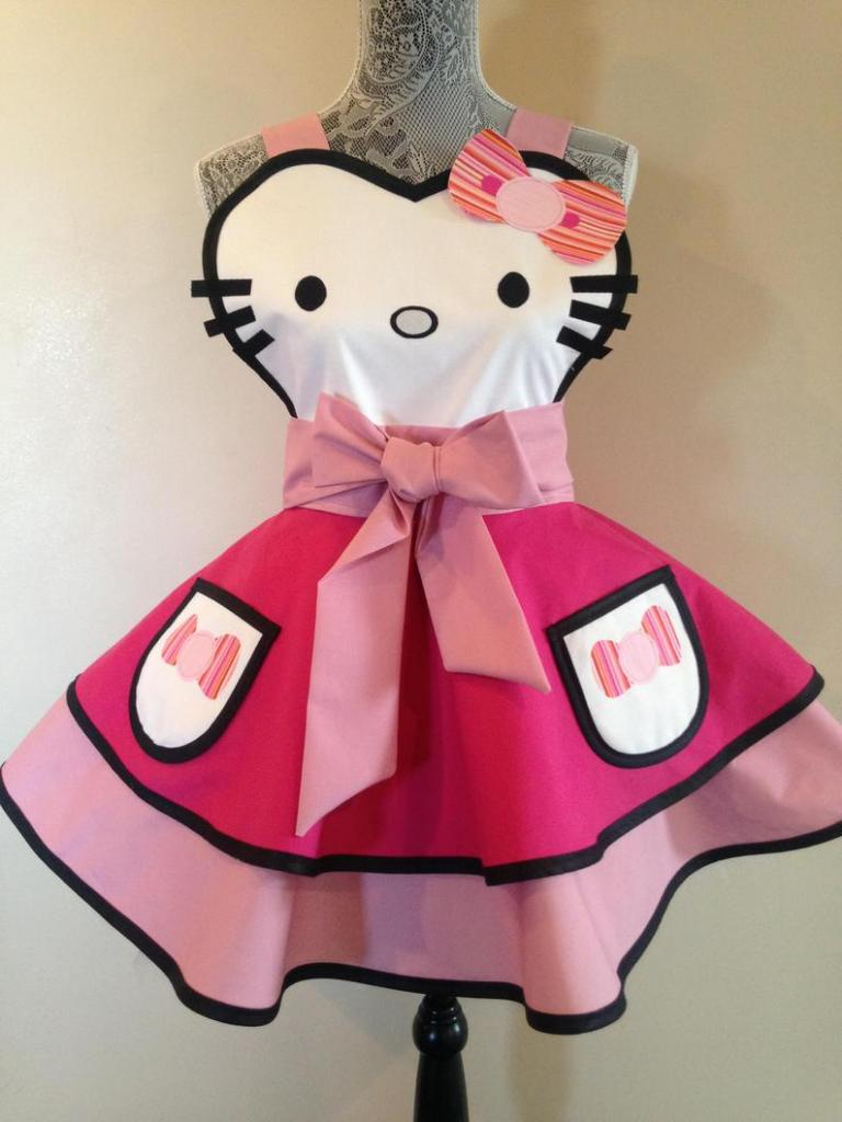 Hello Kitty halloween cosplay apron