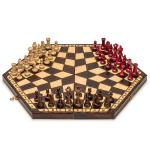 Husaria Three Person Wooden Chess Large