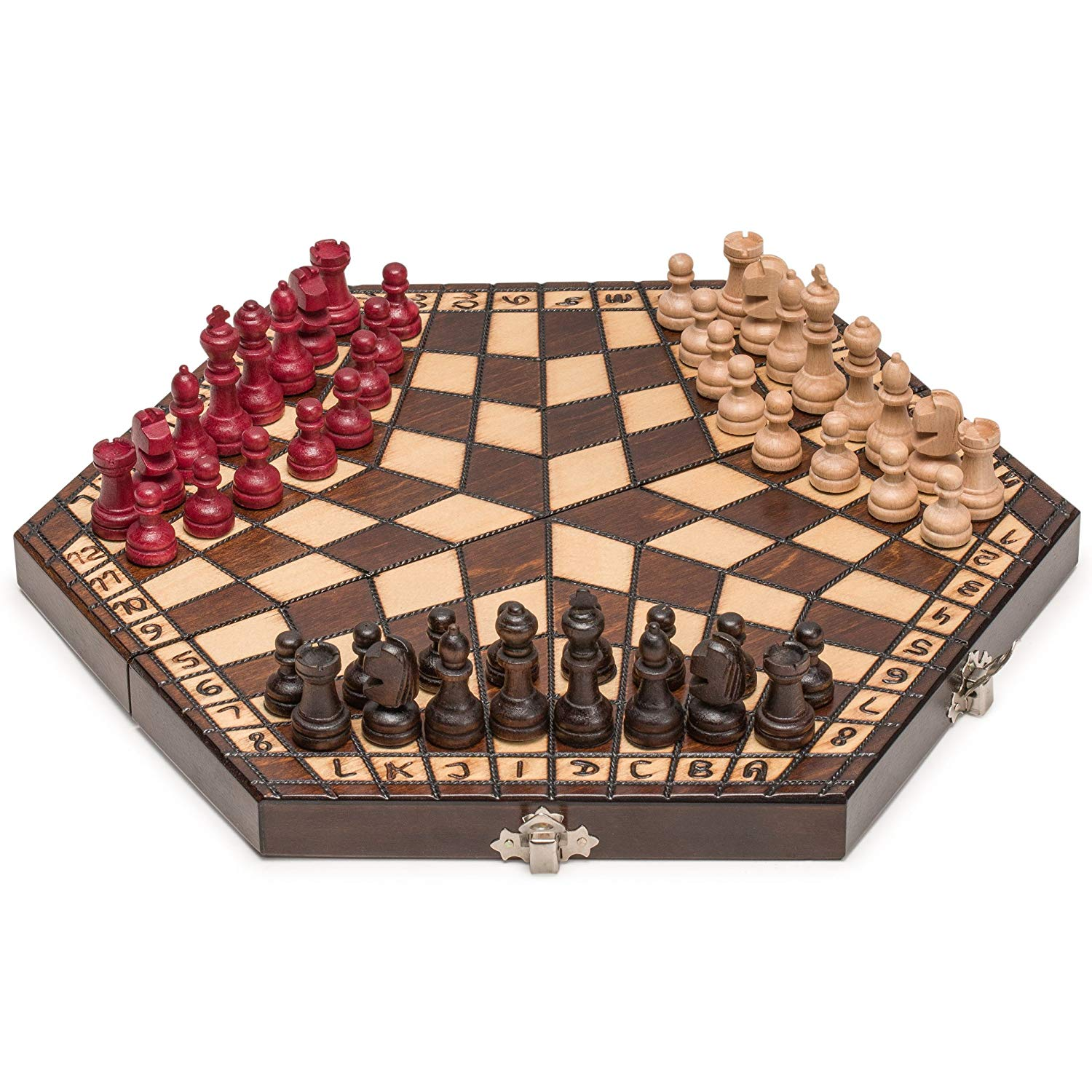 Husaria Three Person Wooden Chess