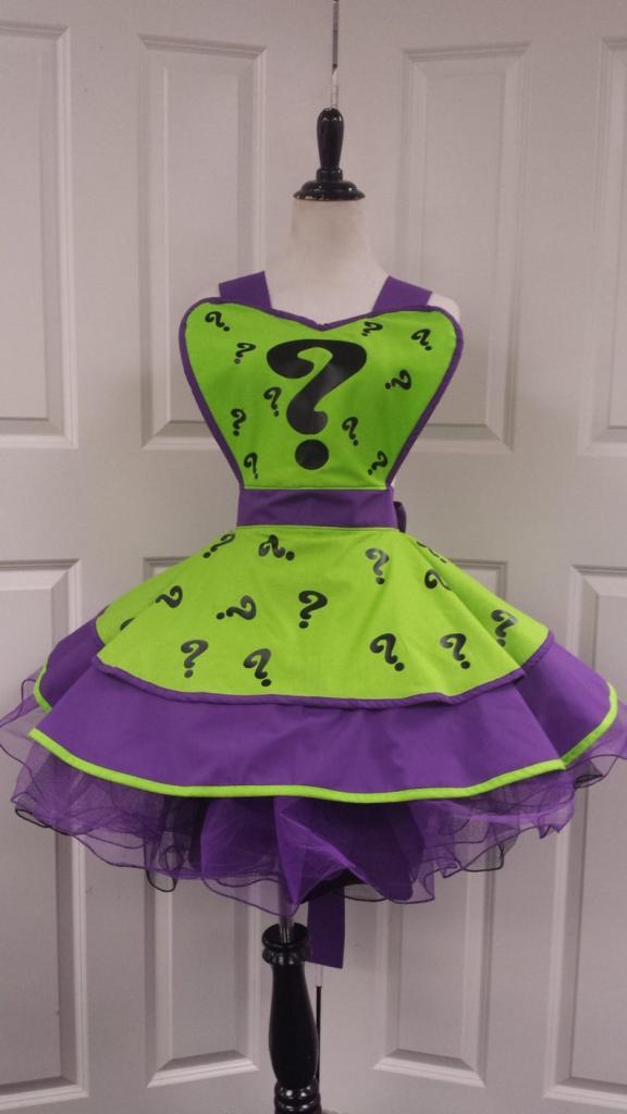 Joker halloween costume apron