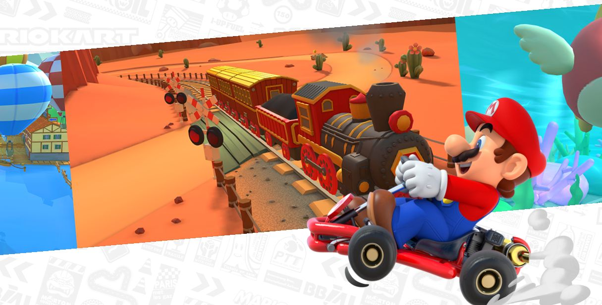 Explore different cities on Mario Kart tour