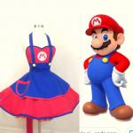 Super Mario halloween costume apron