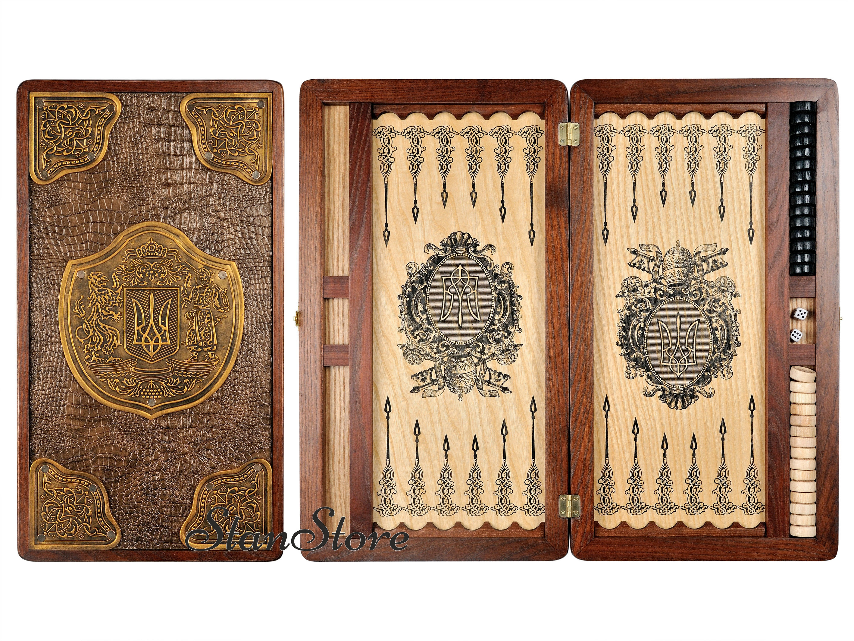 Medieval Handcrafted Backgammon Board