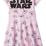 Pink Star Wars dress with back bow for girls