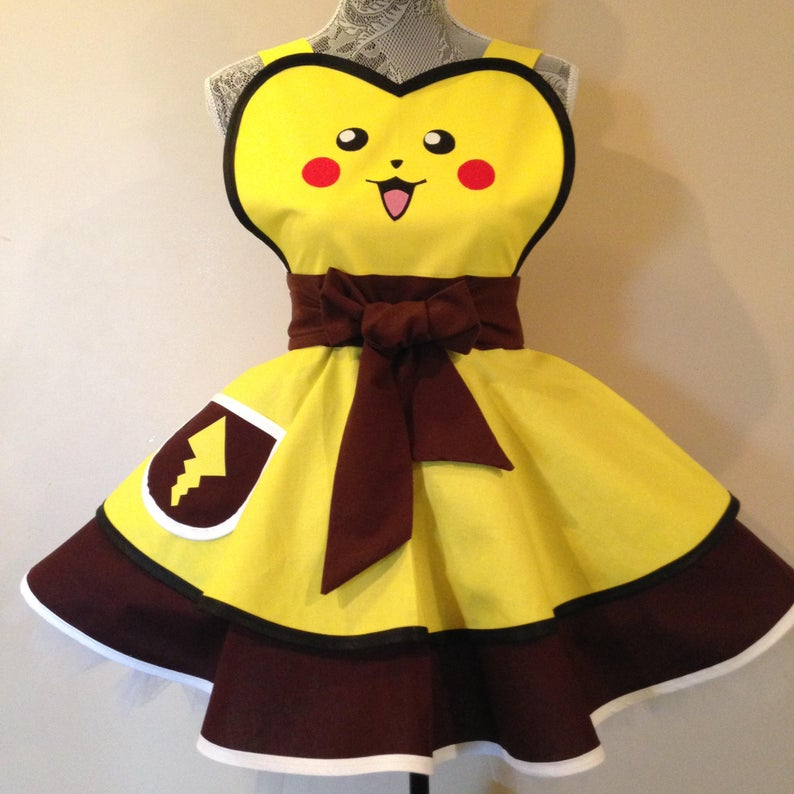 Pokemon Pikachu halloween cosplay apron
