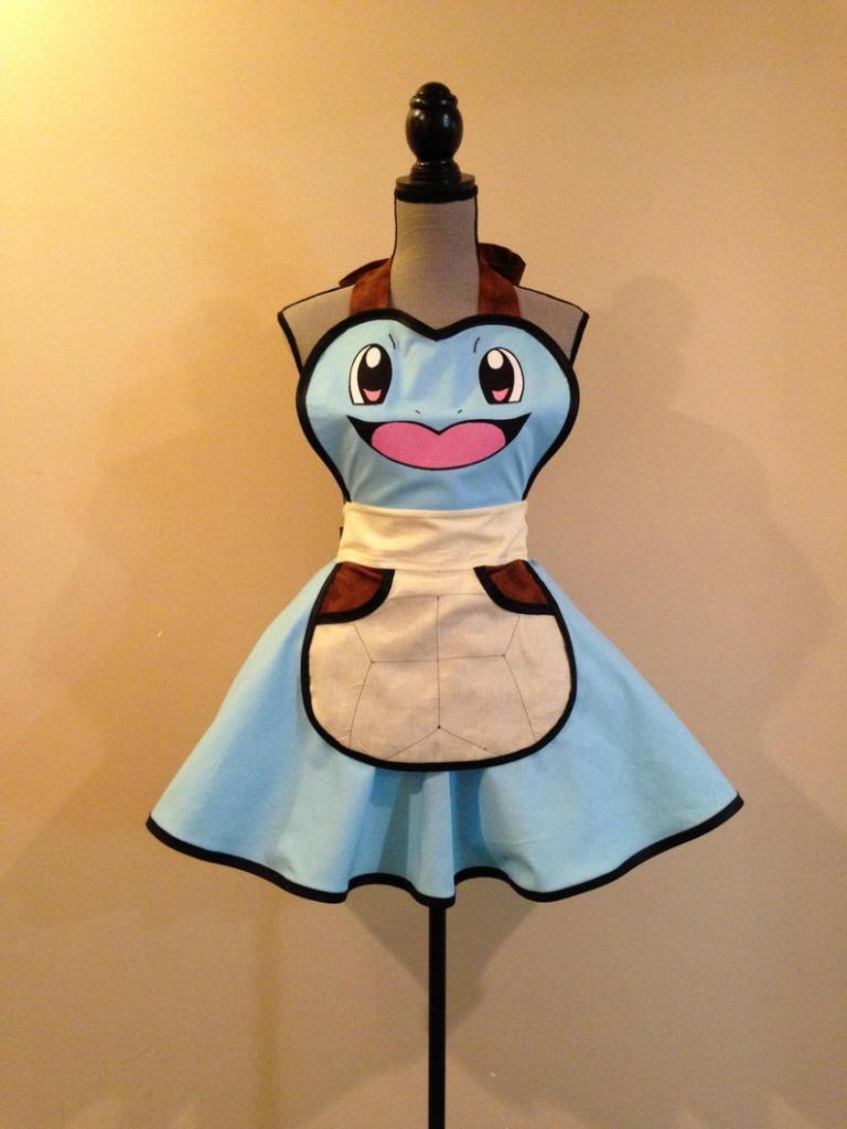 Pokemon's Squirtle halloween costume apron