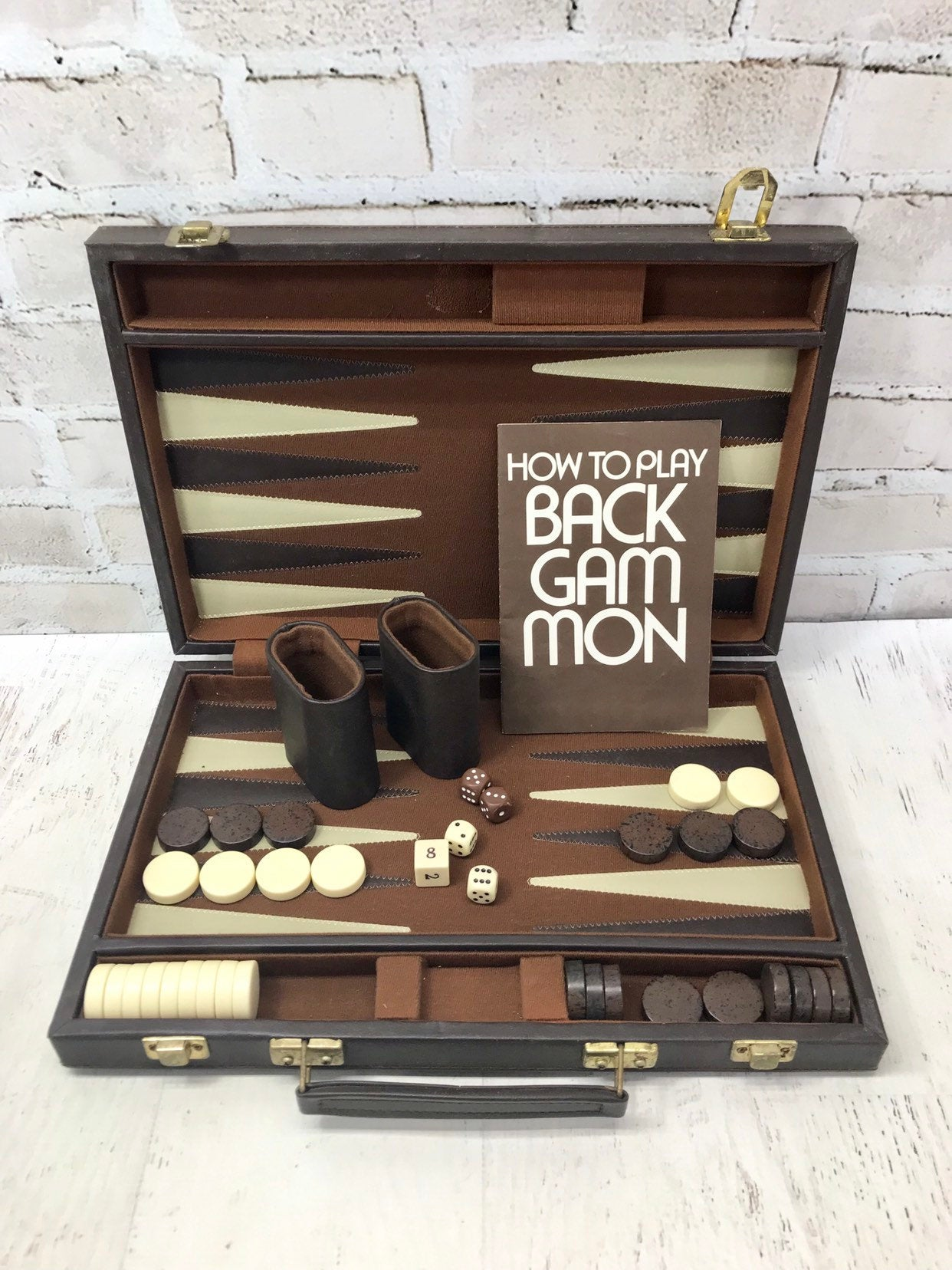 Portable Backgammon Board Set