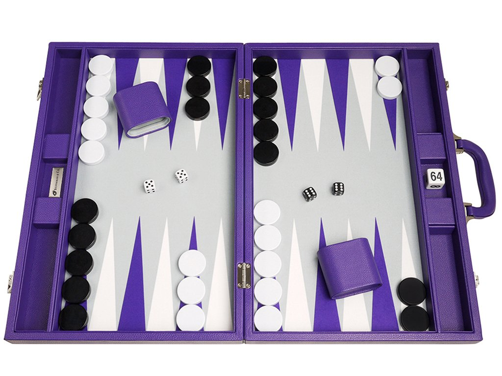 Premium Backgammon Board Set by Silverman and Co.
