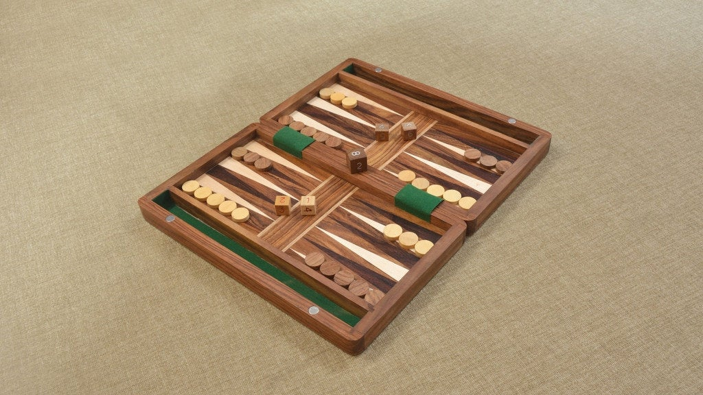 Sheesham Backgammon Board