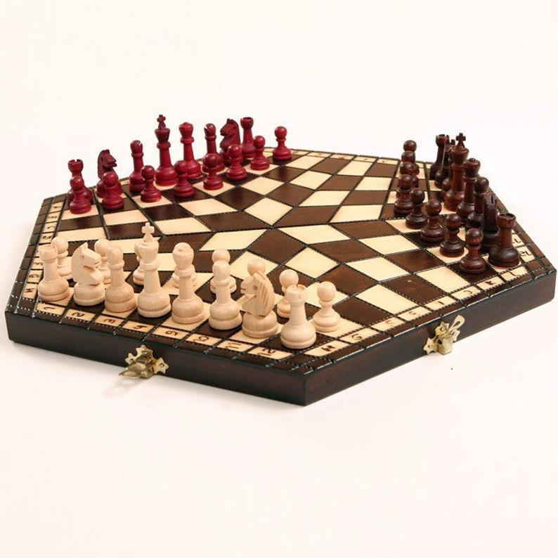 Small Three Person Chess Set
