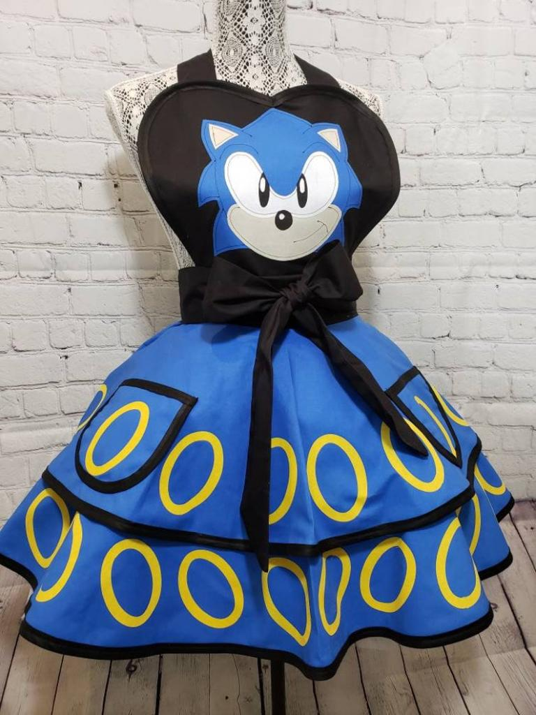 Sonic the Hedgehog halloween costume apron