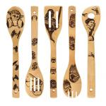 Star War Burned Wooden Spoons Utensil Set