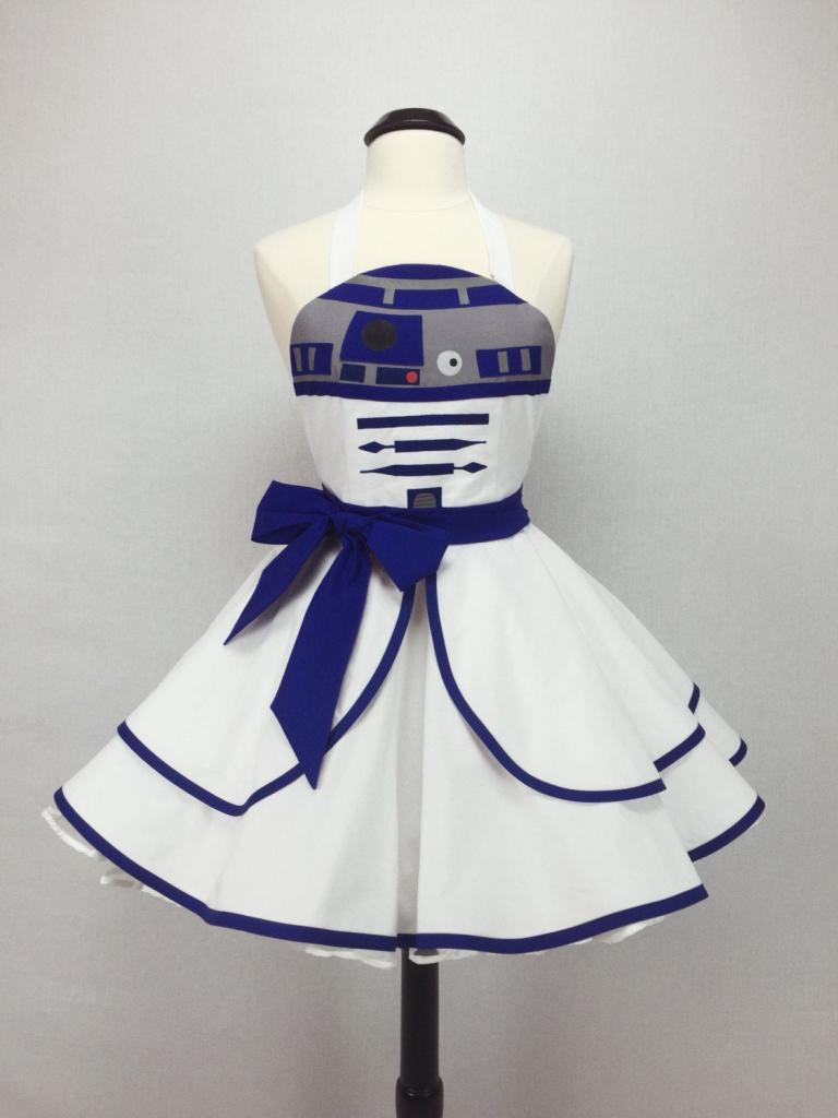Star Wars-inspired handmade R2-D2 halloween costume apron