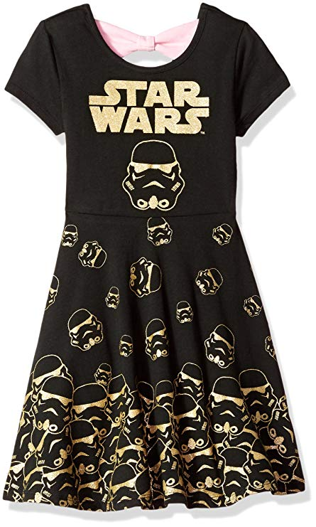 Stormtrooper Star Wars dress with back bow for girls