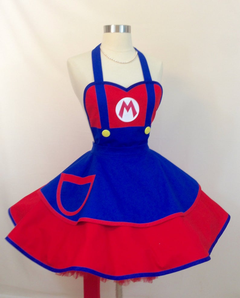 Super Mario halloween costume apron