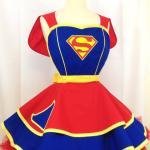 Superman halloween costume apron for ladies