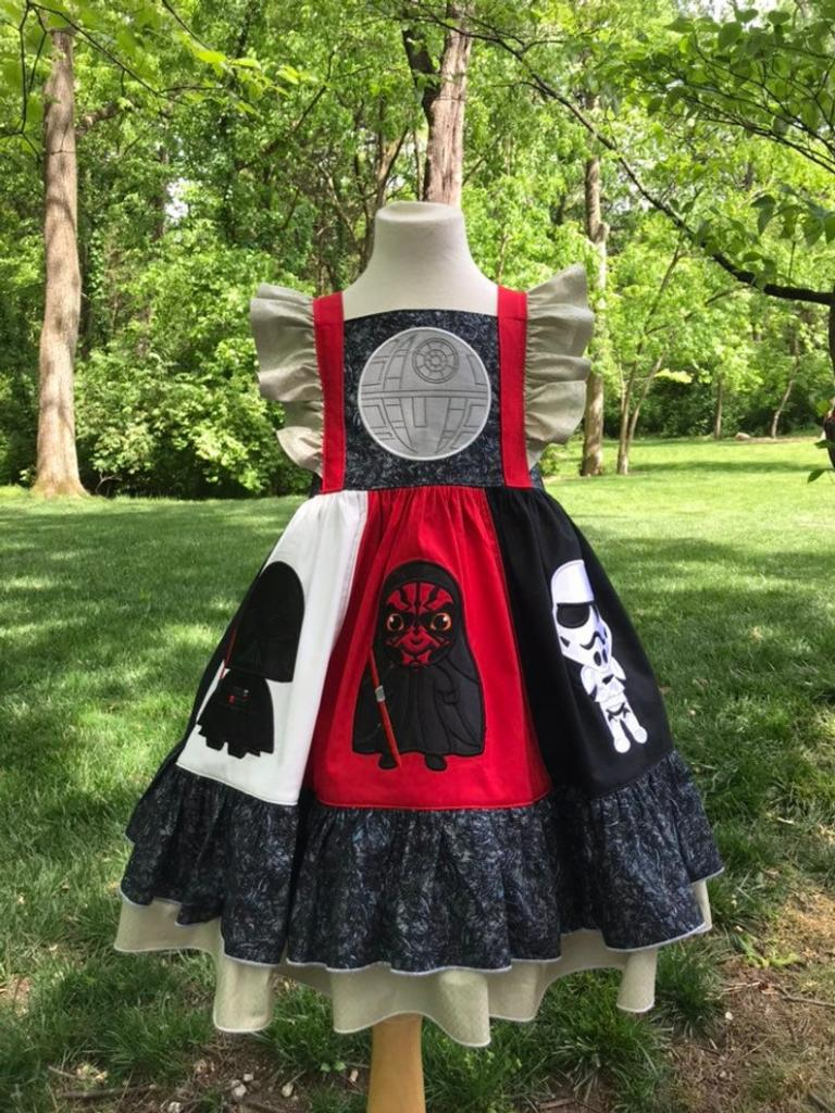 The Dark Side Star Wars dress for kids