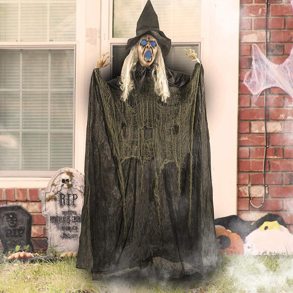 Witch with Glowing Eyes decoration for halloween