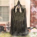 Witch Halloween Decorations with Glowing Eyes