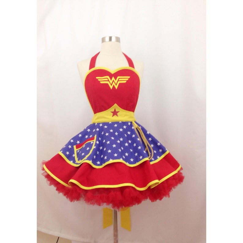 Wonder Woman Halloween Costume Apron