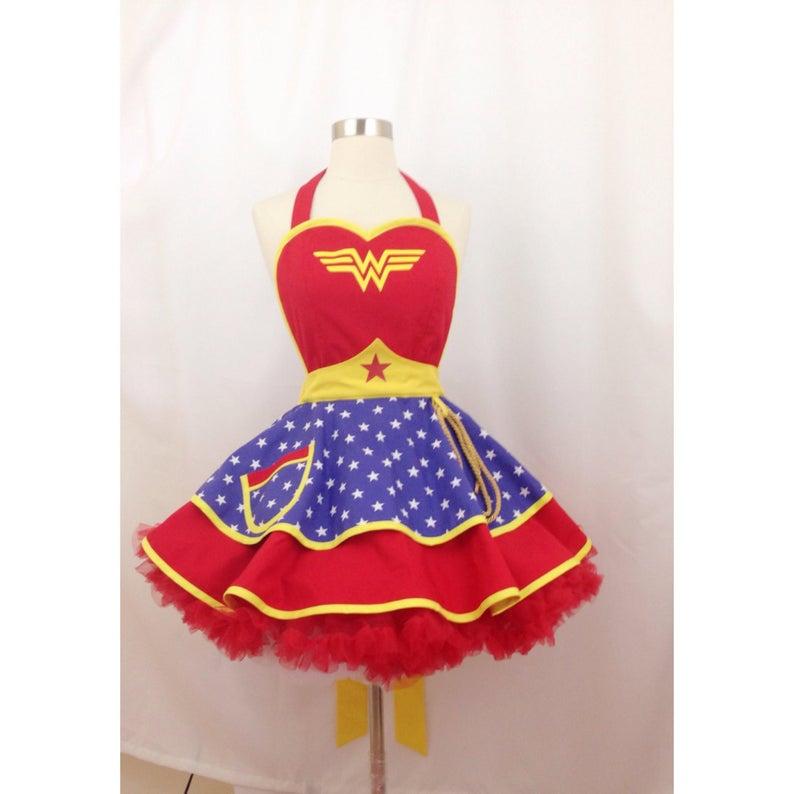Wonder Woman Halloween Costume Apron